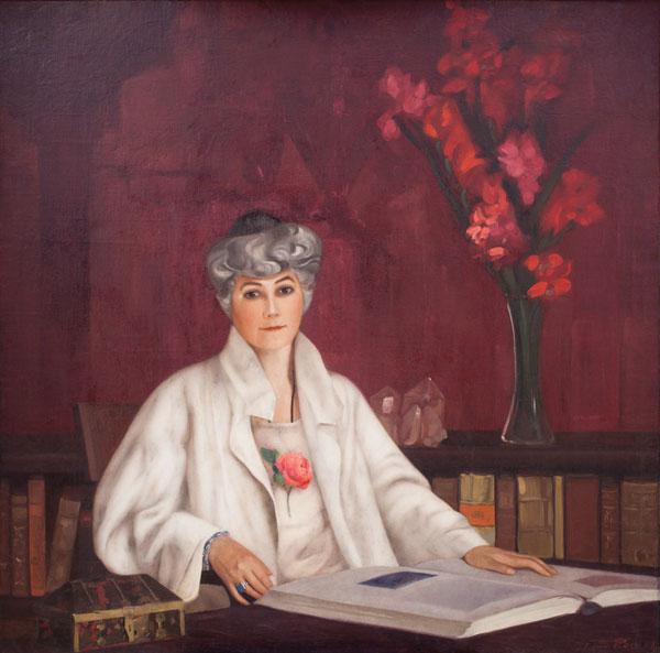 С.Н.Рерих. Портрет Елены Ивановны Рерих. 1937.